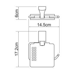 Держатель туалетной бумаги Leine K-5025