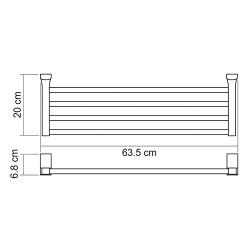 Полка для полотенец Leine K-5011