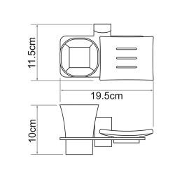 Держатель стакана и мыльницы Leine K-5026
