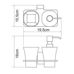 Держатель стакана и дозатора Leine K-5089