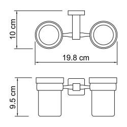 Подстаканник двойной Lippe K-6528D